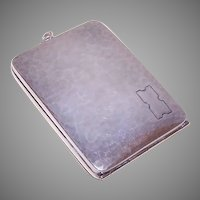 Webster Co Sterling Compact Pendant - Note Holder - Cash Stash
