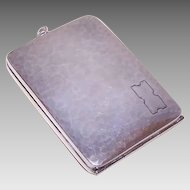 Art Deco STERLING SILVER Compact - Cigarette Holder, Compact, Memo Holder, Webster Co