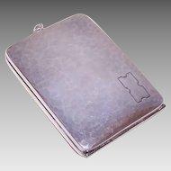 Art Deco STERLING SILVER Compact - Cigarette Holder, Compact, Memo Holder, Webster Co