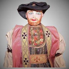 Saroff Characters Hand Made 1940s Folk Doll - King Henry VIII