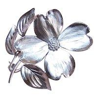 Henry Bick & Son HSB Sterling Silver Dogwood Pin Brooch