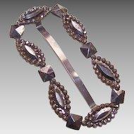 ANTIQUE VICTORIAN Cut Steel Belt or Sash Slide/Sash Buckle!