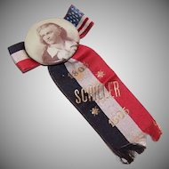 Dated 1905 Badge & Ribbon Celebrating the 100th Year of the Death of Friedrich von Schiller!