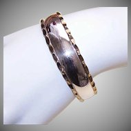 Vintage STERLING SILVER & Gold Vermeil Cuff Bracelet - Made in Mexico!