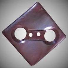 ANTIQUE EDWARDIAN Mother of Pearl Button - Square with Open Eyes!