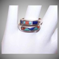 Carolyn Pollack STERLING SILVER & Stone Inlay Rings - Zuni Style!