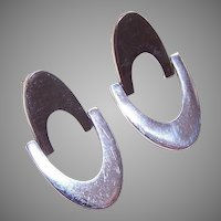 Vintage STERLING SILVER Earrings by Jondell, Mexico - Pierced (Posts with Nuts)!
