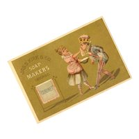 Victorian Advertising Trade Card for Coronet Soap - Graphics of a King & Maid