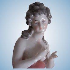 European Arms Away Porcelain Half Doll