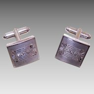 P&K Vintage STERLING SILVER & Rhinestone Cufflinks!