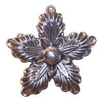 Danecraft Sterling Silver Pin Brooch - Stylized Star