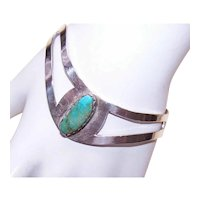 Mexican Sterling Silver Turquoise Cuff Bracelet
