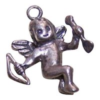 Sterling Silver Charm - Cupid with Bow and Arrow
