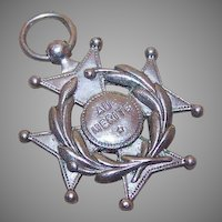 "Vintage FRENCH SILVERPLATE Medal - Maltese Cross ""For Merit""!"