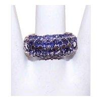 Sterling Silver Purple Cubic Zirconia/CZ Fashion Ring