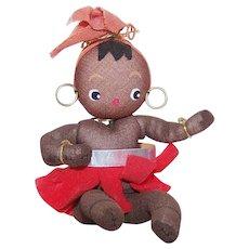 C.1960 MADE IN JAPAN Black African Dancer Doll - Josephine Baker?