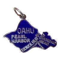Sterling Silver Enamel USA State Charm - Oahu Hawaiian Island