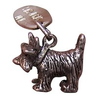 Sterling Silver Charm - Scottish Terrier Scotty Dog from Las Vegas, Nevada