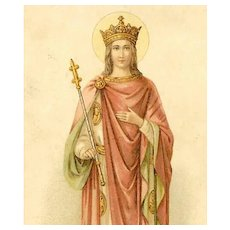 VICTORIAN Religious Card - Saint Edward the Confessor, King of England!