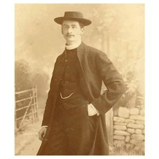Religious VICTORIAN Cabinet Photograph of a Vicar or Pastor by Queen Victoria's Photographer!
