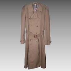 CLASSIC 1960s BARACUTA Four Climes Trench Coat - Khaki with Inner Liner!