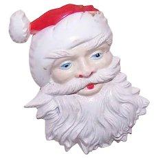 Vintage Hard Plastic Santa Claus Christmas Pin