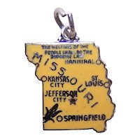 Sterling Silver Enamel USA State Charm - Missouri
