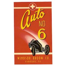 Trio of C.1940 Labels for the Windsor Broom Co - Auto No 6!