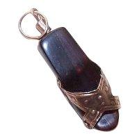 Vintage 9K Gold Sandal Charm
