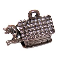 Beau Sterling Silver Charm - Mechanical Dog in Dog House