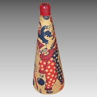 Vintage PAPER Noise Maker - Horn with Graphics of Clowns & Circus Folk!