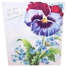 Unused Vintage Greeting Card - Wedding Anniversary