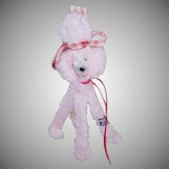 Vintage MADE IN JAPAN Chenille French Poodle - Perfect Doll Companion!