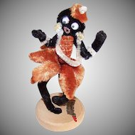 C.1950 MADE IN JAPAN Chenille Souvenir - Josephine Baker/Banana Dance!