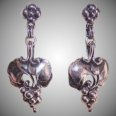 GEORG JENSEN 1996 Anniversary Collection Drop Earrings with Original Box!