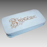 C.1880 Pale Blue FRENCH Baptism Candy Box - For the New Prince!