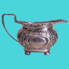 James Deakin C.1901 Sterling Silver Gravy Boat or Creamer - Virtue is Its Own Reward