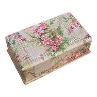 Vintage SHABBY CHIC Paper Jewelry Box/Trinket Box - Pink Florals!