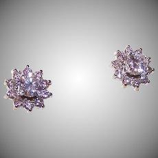ESTATE 14K Gold & .80CT TW Diamond Studs with .40CT TW Diamond Jackets!