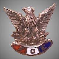 C.1900 Gold Filled & Enamel FOE (Fraternal Order of Eagles) Member Pin!