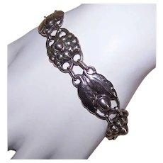 Vintage STERLING SILVER Bracelet - Recast, Georg Jensen, Denmark, #3 Design, Link Bracelet