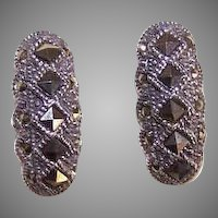 Vintage Sterling Silver Marcasite Earrings
