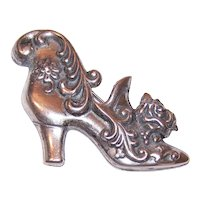 Lang Sterling Silver Pin - Lady's Shoe with Florals