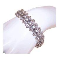 JB Sterling Silver Double Link Starter Charm Bracelet with Spacer Balls