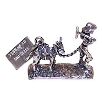 Bell Trading Post Sterling Silver Charm 49er Miner with Donkey