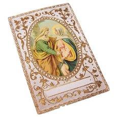 C.1900 POLISH Religious Card - Ruth's Loyalty to Naomi!