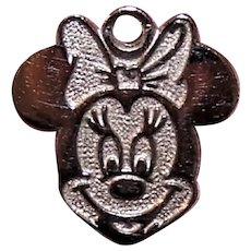 Sterling Silver Vermeil Disney Charm - Minnie Mouse Flat Disc