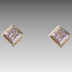 Vintage ESTATE 14K Gold & .50CT TW Diamond Earrings!