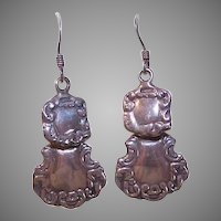 EDWARDIAN REVIVAL Sterling Silver Drop Earrings for Pierced Ears!