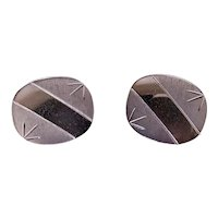 Foster Sterling Silver Etched Cufflinks